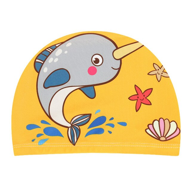 2-5Years Boys and Girls Swimming Caps 2019 Children Boys Kids Toddler Beach Swim Hats Cartoon Swimming Pool Caps