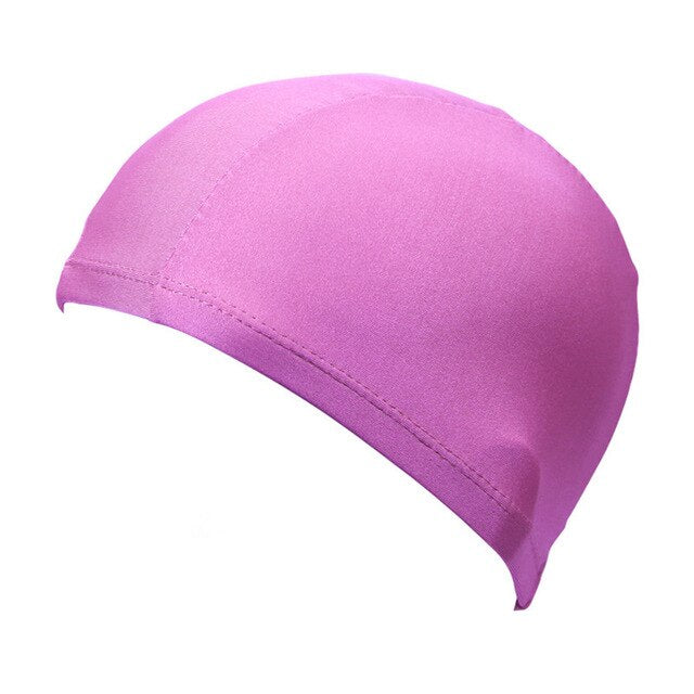 Swimming Caps High Elastic Durable Women Men Pure Color Bathing Caps Protect Ears Long Hair Sports Swim Cap Pool Hat