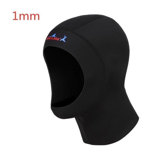 Hot Winter Swim Warm  Protect Hair Ear Neoprene Scuba Diving Cap With Shoulder Snorkeling Equipment Hat Hood Neck Cover 3mm