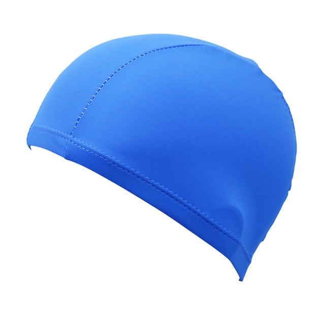 2020 Elastic Swimming Caps Adult Waterproof Protect Ears Long Hair Sports Summer Swim Pool Bathing Hat Silicone Rubber Swim Cap