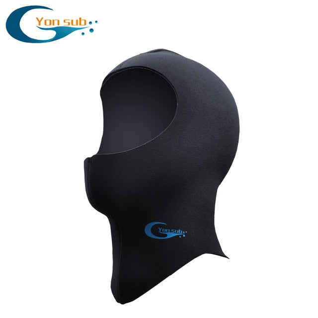 YonSub 3MM/5MM Neoprene Scuba Diving Hood With Shoulder Winter Keep Warm Hat Caps Spearfishing Snorkeling Equipment Wetsuit Hood