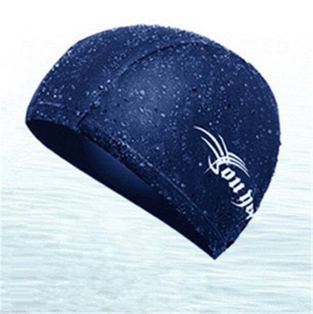 2019 New Style Fashion Hot Women's Men's Bathing Hat Swimming Caps Spandex Waterproof Elastic Adult Black