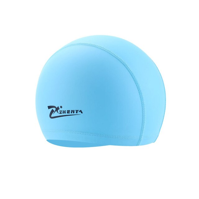 Adult Swimming caps Teens PU Waterproof Swimming Pool hat long hair swim hats Ear Protector Flexible colorful Diving Cap