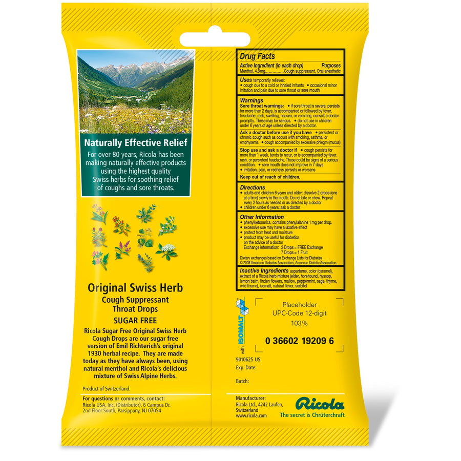 Ricola Cough Suppressant Throat Drops