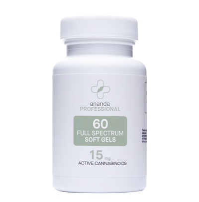 ANANDA PROFESSIONAL FULL SPECTRUM HEMP EXTRACT 15MG CBD CAPSULES #60
