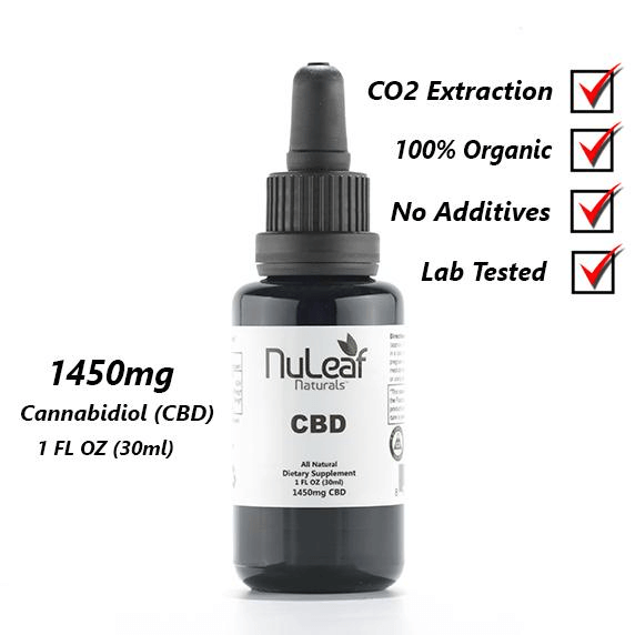 Nuleaf Naturals Full Spectrum Hemp Extract 1450mg CBD Oil