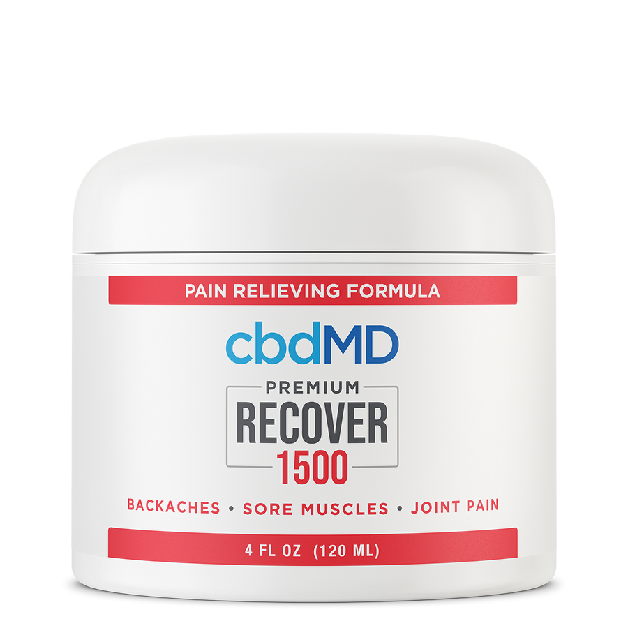CBDMD THC FREE CBD RECOVER CREAM Tub 1500 MG - 4 OZ