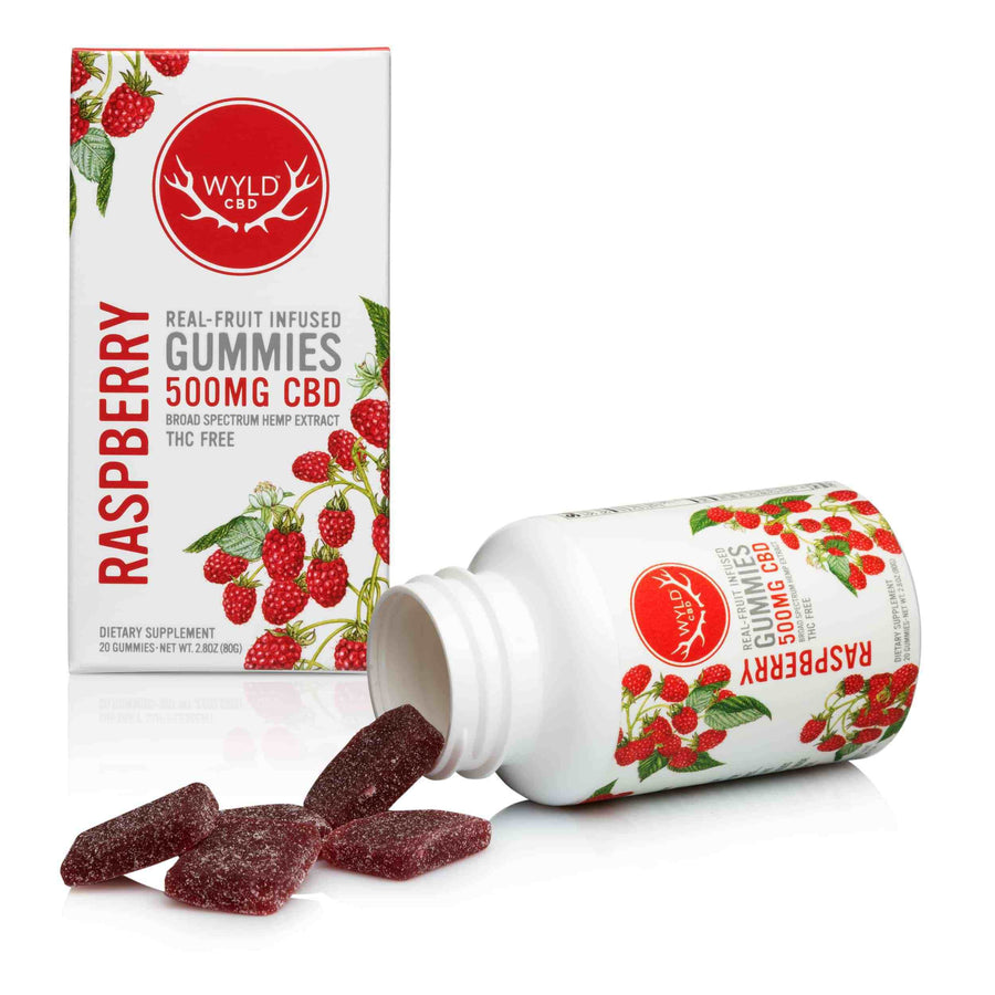 WYLD RASPBERRY 500MG CBD GUMMIES 20CT