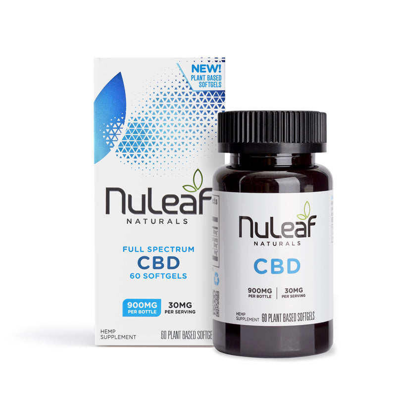 Nuleaf Naturals Full Spectrum Hemp Extract CBD Capsules (15mg/softgel) 60ct