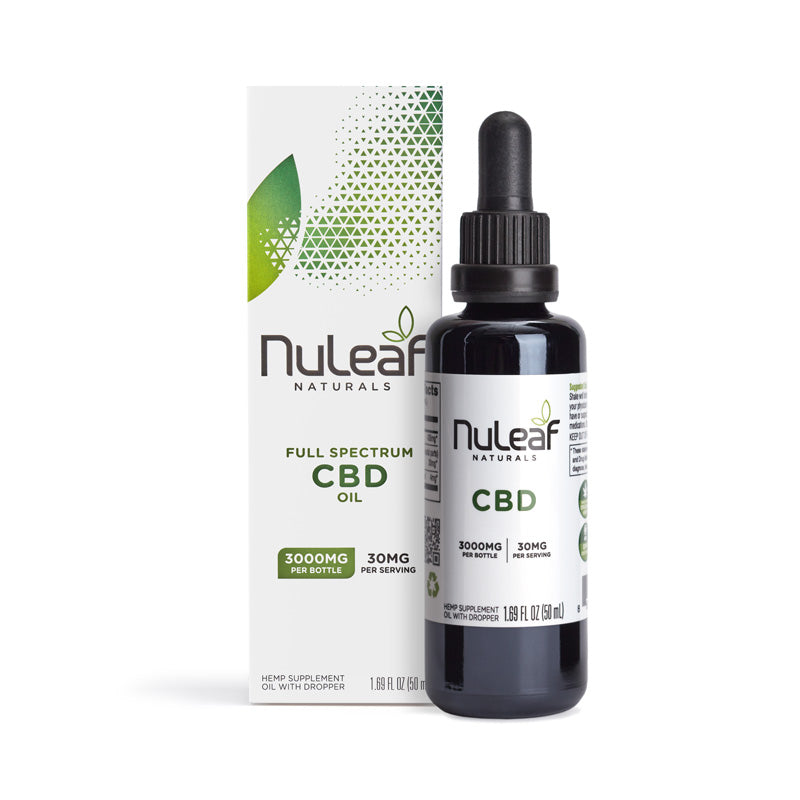 Nuleaf Naturals Full Spectrum Hemp Extract CBD Oil (60mg/mL) 3000mg 50ML