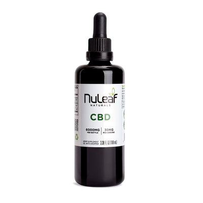 Nuleaf Natruals Full Spectrum Hemp CBD Oil (60mg/mL) 6000mg 100ML