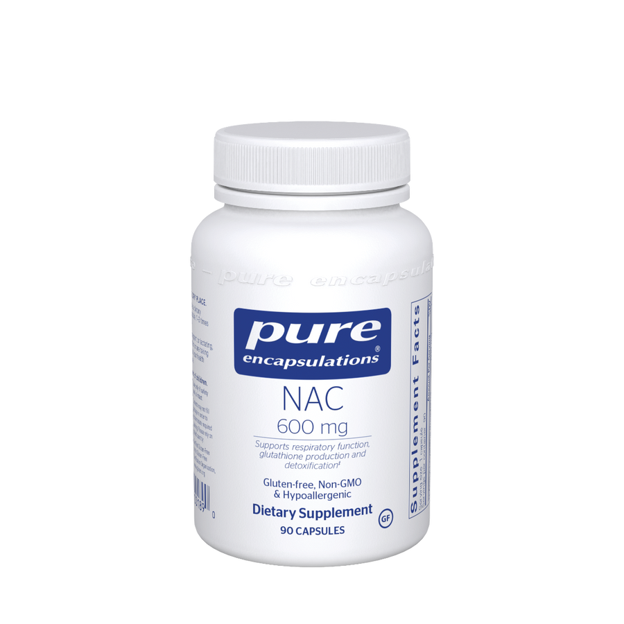 Pure Encapsulations NAC (n-acetyl-l-cysteine) 600 mg