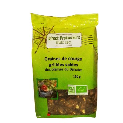 Graines Courge Grilles Salees 150g Direct Prod