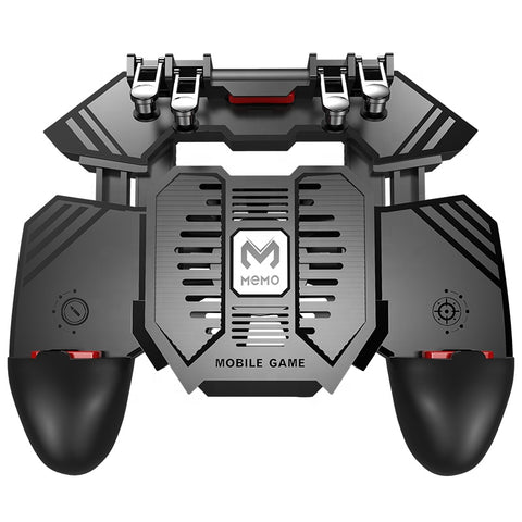 Ak77 Mobile gaming trigger controller 4 finger with a cooling fan for Cellphone PUBG and COD Mobile