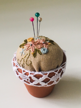 Load image into Gallery viewer, Embroidered pincushion