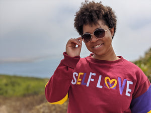 Mighty Maroon Self Love Sweat Suit by True Health 4ever.