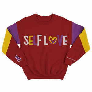 Mighty Maroon  Self Love Sweat Suit by True Health 4ever