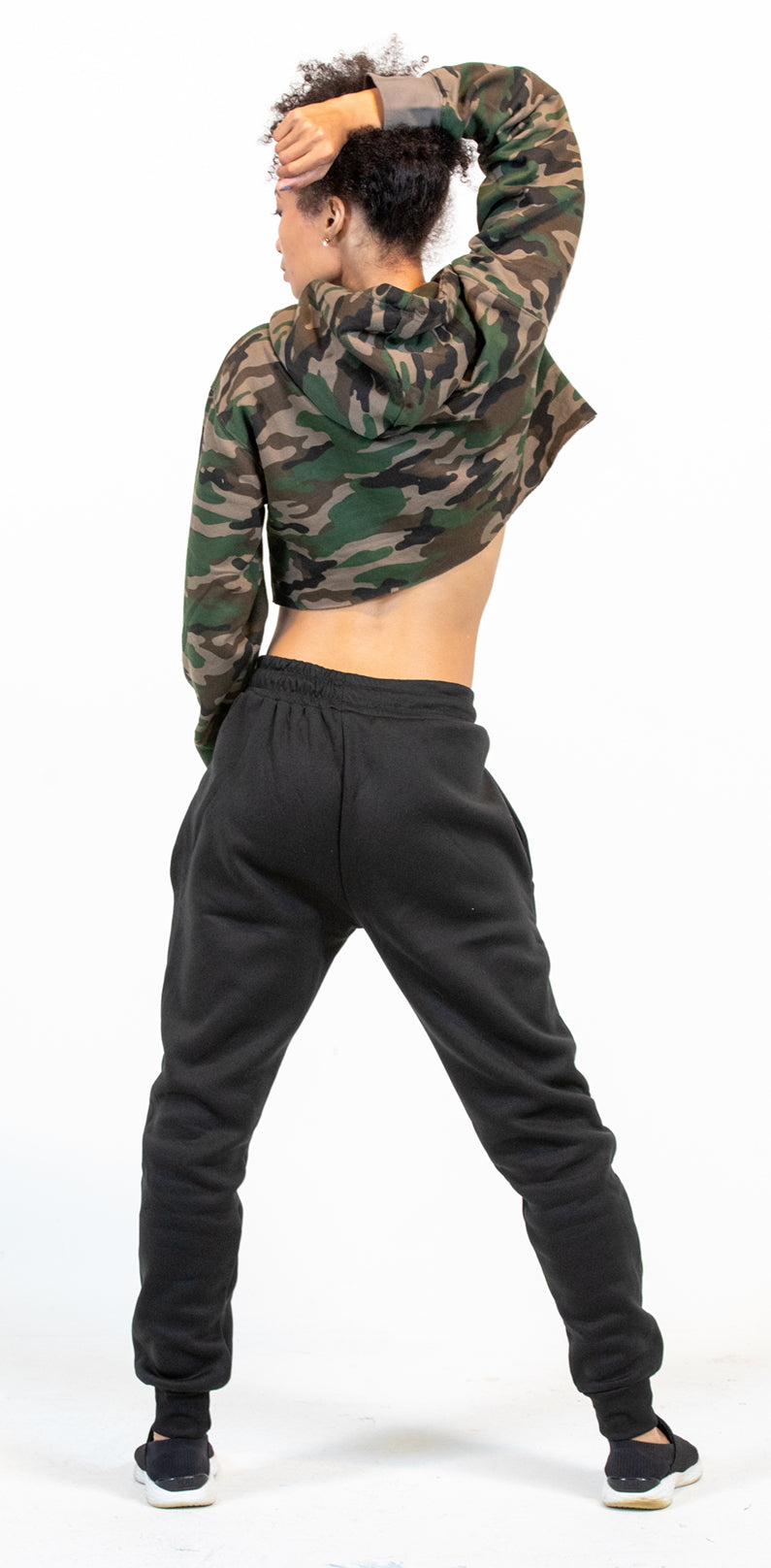 Affiliated Women's CROPPED Hoodie (Camo)