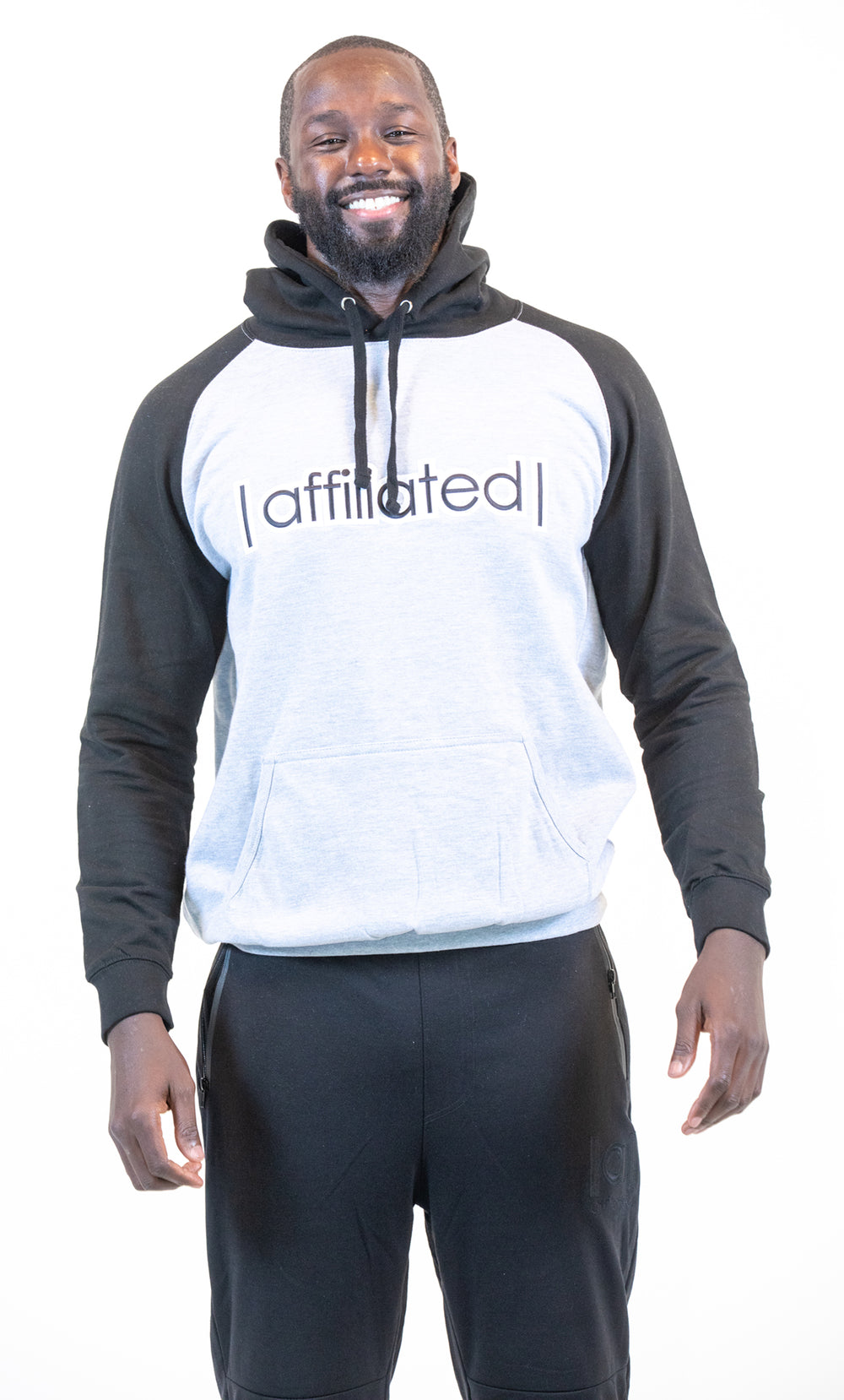 Affiliated SLAM DUNK Hooded Pullover (Grey/Black)