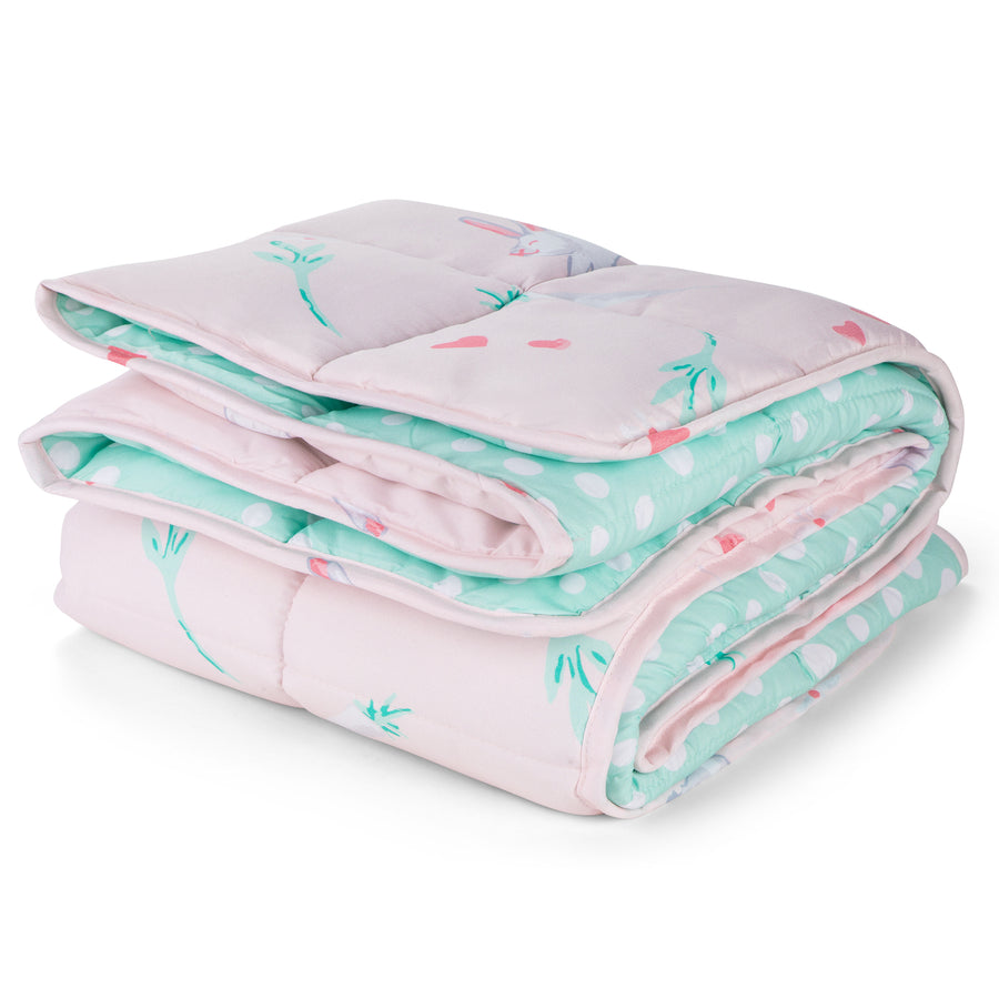Pink Bunny Weighted Blanket