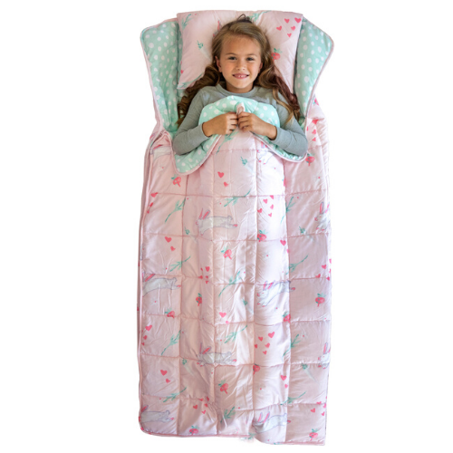 Pink Bunny Weighted Sleeping Bag