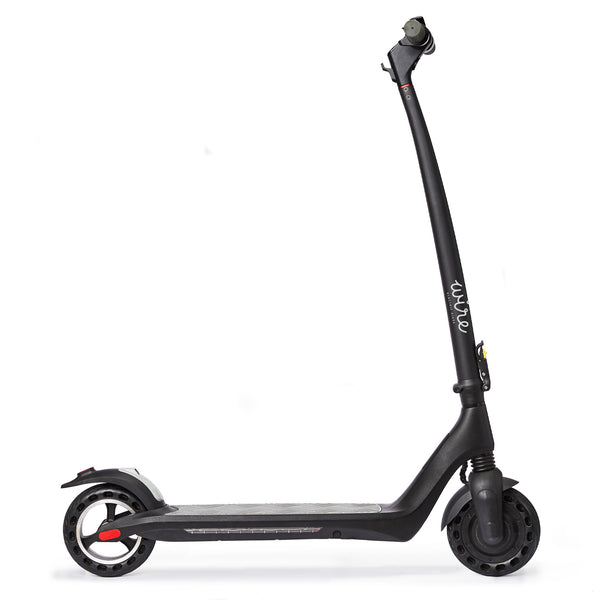 Wire Ohm Electric Scooter Unfolded with RGB city lights and flat proof tires