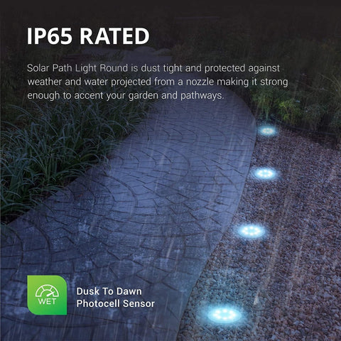 8LED Waterproof Solar Powered Garden Lights - Truest Value