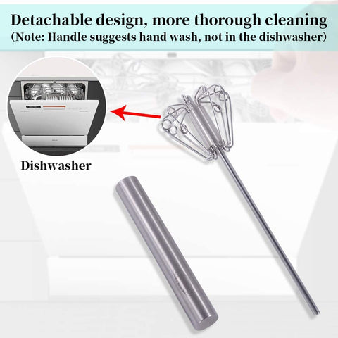 Image of Easy Semi-automatic Stainless Steel Egg Whisk - Truest Value
