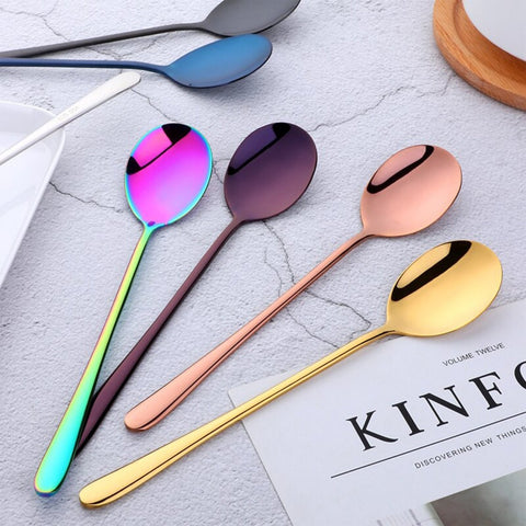 Paris Spoon 10 Colors Stainless Steel Fancy Flatware - Truest Value