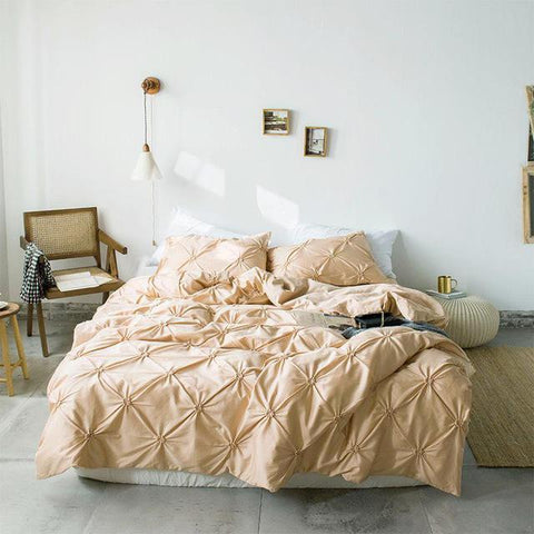 Image of Pastel Pinch Pleat Comforter Set Series - Truest Value