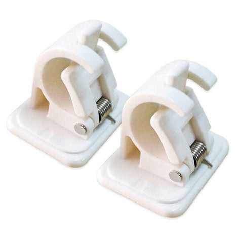 Image of Self Adhesive Hooks Curtain Rod Bracket Pole Holder 2 Pcs Pack - Truest Value