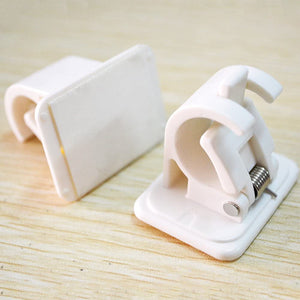 Self Adhesive Hooks Curtain Rod Bracket Pole Holder 2 Pcs Pack - Truest Value