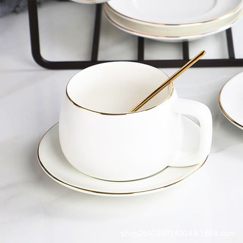 Image of Taza de Café Moderna Blanca Cup Set - Truest Value