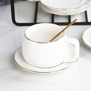 Taza de Café Moderna Blanca Cup Set - Truest Value