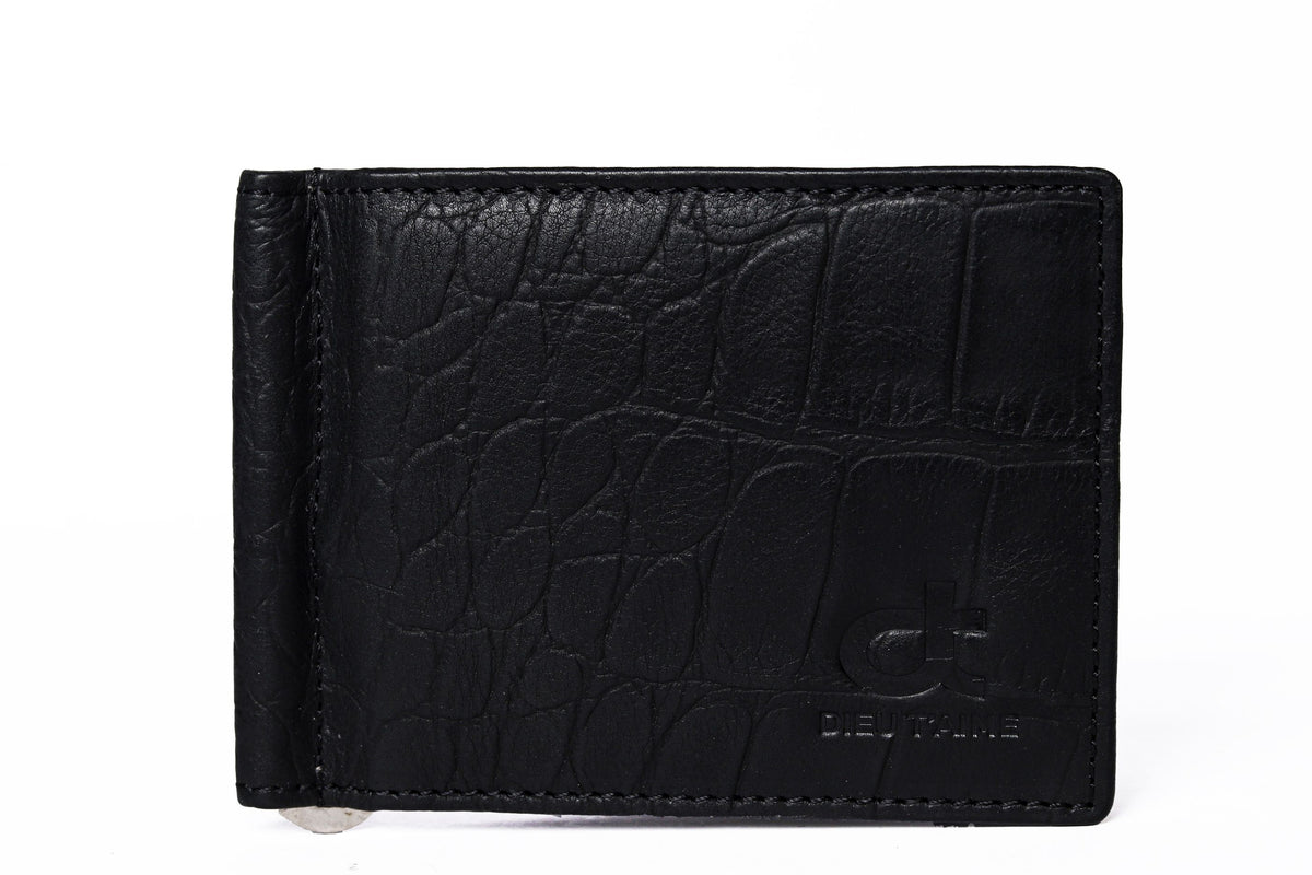 CROCO MAT BLACK MONEY CLIP