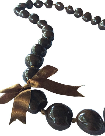 Kukui Nut Lei Brown