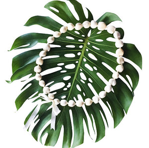Kukui Nut Lei white