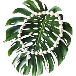 Kukui Nut Lei White (10 Pack)
