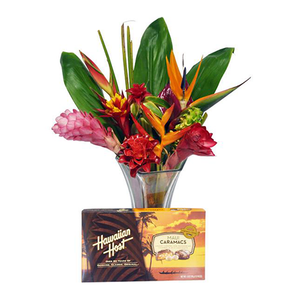Tropical Passion Bouquet with Chocolate