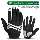 Full finger mountain bike gloves gel thickening - Sanlsky