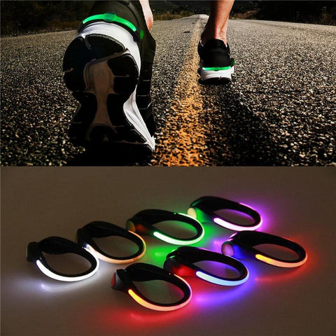 LED Luminous Night Running Shoe Safety Clips - Sanlsky