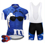 2020 BLUE M bike TEAM Cycling Jersey - Sanlsky