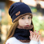 2020 New Fashion Thick Scarf Hat (1 set)
