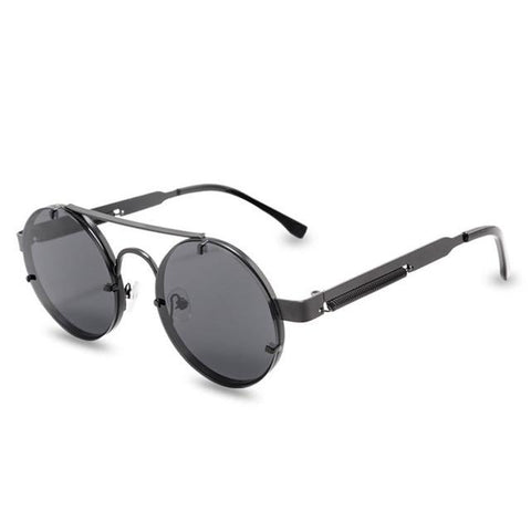 Round Steampunk Sunglasses Men Women - Sanlsky