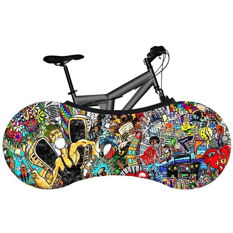 2020 graffiti series indoor dust cover bicycle accessories