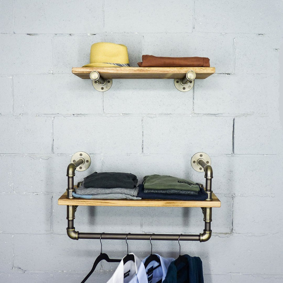 Austin 2-Piece Multi-Purpose Wall Shelf Rack (Wide)