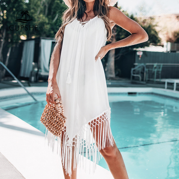 HALTER BACKLESS BEACH COVER UP - You Got Swank Boutique