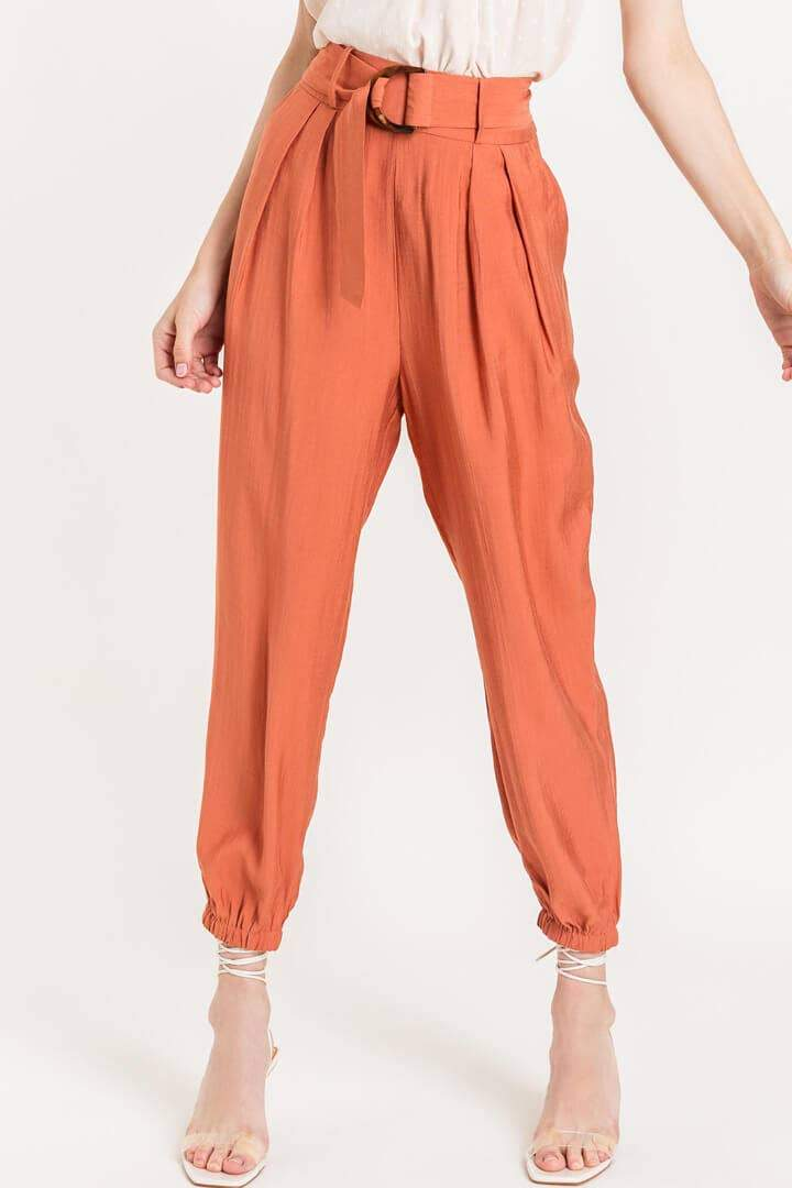 Belted Jogger Trousers