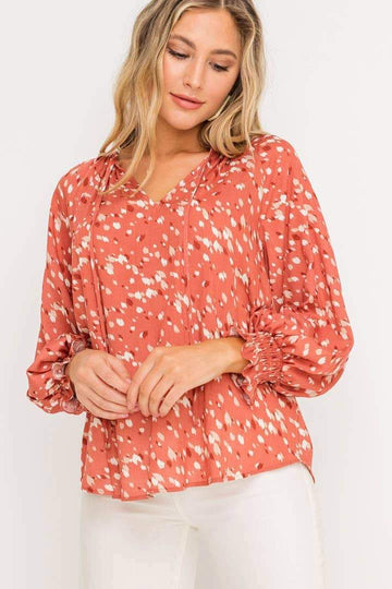 Raglan Balloon Sleeve Blouse