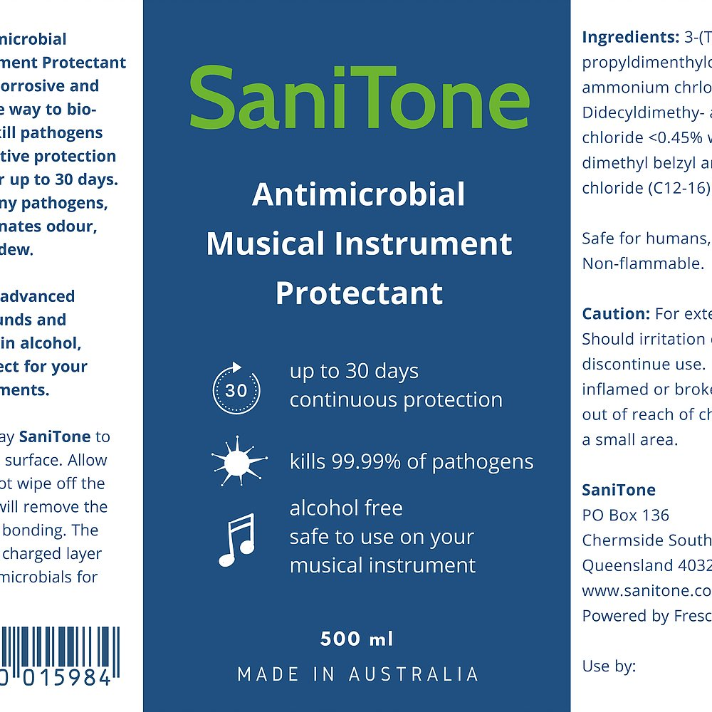 SaniTone - Antimicrobial Musical Instrument Protectant